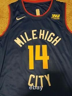 Gary Harris Signed Denver Nuggets Nike Mile High City Jersey JSA COA