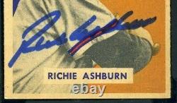 HIGH END Richie ASHBURN Autographed 1949 Bowman Rookie #214 Signed HOF Auto SGC