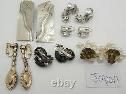HIGH END Vintage RHINESTONE Jewelry Lot SIGNED Brooches Earrings CORO PEGASUS