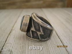 HIGH GRADE BISBEE RING, KEVIN YAZZIE, SIGNED, STERLING, Reduced $425 to $375