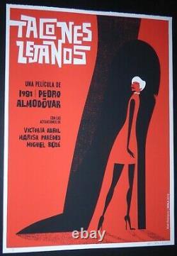 HIGH HEELS Cuban Screenprint Poster for Spanish PEDRO ALMODOVAR Movie / CUBA ART