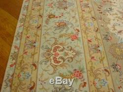 Handmade 11' x 16' Rug Ivory-Gray Tabriz High End Persian SIGNED Wool & Silk Rug