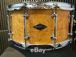 Hard to find Signed Highly Dense Craviotto Birdseye Maple snare 14 x 7 10 lugs