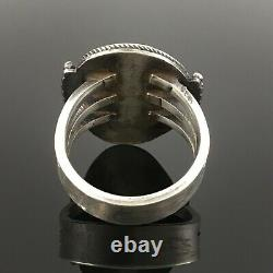 Harry Morgan Native American Navajo Sterling Silver High Grade Turquoise Ring