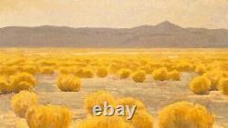 High Desert Gold Western Plains Southwest Art Oil Painting Realism Landscape Lrg