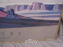 High Desert Mesa Ed Mell Gallery Print Hand Signed Framed 24x36