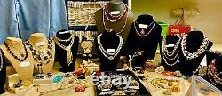 High End 90 Vintage Costume Jewelry Lot Signed Trifari Coro Monet Napier Art+