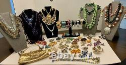 High End Signed 84 Pc. Vintage Estate Jewelry Lot