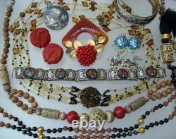 High End Vintage Jewelry Lot Signed Rhinestone Lanvin Weiss Kjl Sterling 197 Pcs