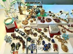 High End Vintage Signed Jewelry Lot Schiaparelli Haskell Juliana Hagler Kj. L