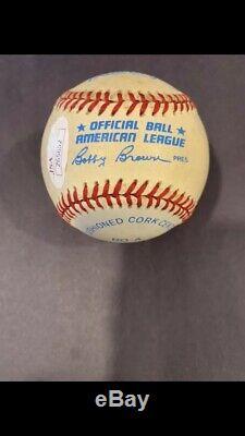 High Grade Mickey Mantle HOF 74 Signed Autographed OAL Baseball JSA #BB03690