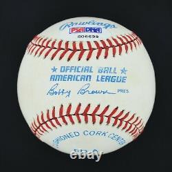 High Grade Mickey Mantle Signed Autographed OAL Baseball PSA LOA #S06699