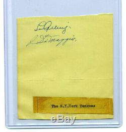 High Quality 1938 Yankees Lou Gehrig & Joe Dimaggio Autographed Album Page Jsa