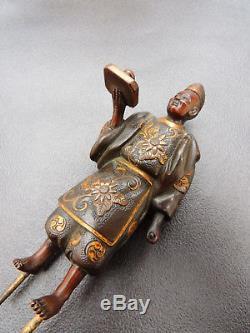 High Quality Antique Japanese Bronze Okimono signed MIYAO