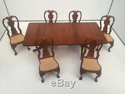 High Quality Dining Table & Chairs Signed Artisan Georgian Dolls House Dollhouse