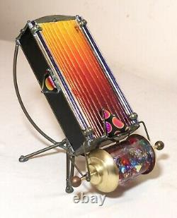 High quality signed hand blown art studio iridescent aurene glass kaleidoscope