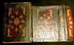 Highly Illuminated Arabic Manuscript. Signed & Dated Medium Size, Complete KORAN