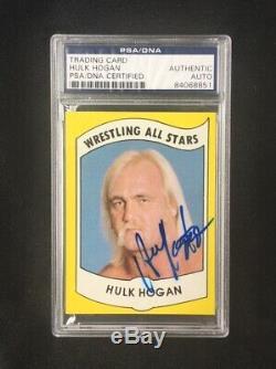 Hulk Hogan Signed 1982 Wrestling All Stars Card PSA DNA likely to grade high