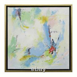Hungryartist- High Quality Original Abstract Oil Painting with Modern Gold Frame