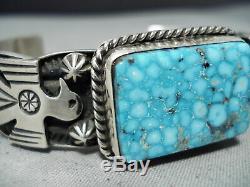 Important High Grade Albert Jake Navajo Turquoise Sterling Silver Bracelet