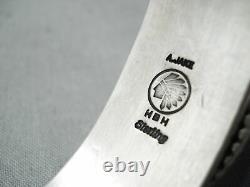 Important High Grade Navajo Turquoise Albert Jake Sterling Silver Bracelet