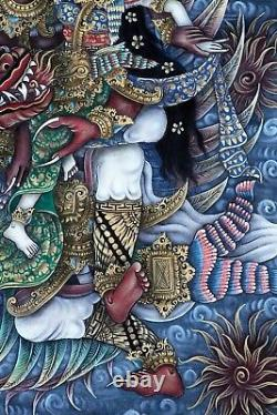 Incredible! Original Balinese Painting MYTHICAL BALI (35.75 High x 25 Wide)