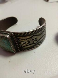 Ingot Navajo Cuff Landers Ultra Fine Stampped Signed Heavy High Quality Killer