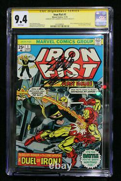 Iron Fist #1 CGC 9.4 STAN LEE + CHRIS CLAREMONT SIGNED! (Marvel) HIGH RES SCANS