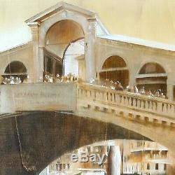 Italian Painting Rialto Bridge Venice Original Antonio Sgarbossa High Quality