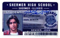 JUDD NELSON Signed'The Breakfast Club' John Bender Shermer High ID Card SS