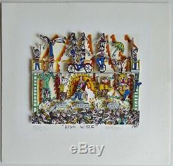 James Rizzi original 3D High wire1990 handsigniert signed
