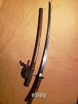Japanese Samurai Sword Katana, Signed Kanewaka, High Polish War Trophy, 27 1/4
