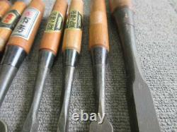 Japanese Vintage Chisel Nomi Carpentry Tools 15 set High Brand with Signed