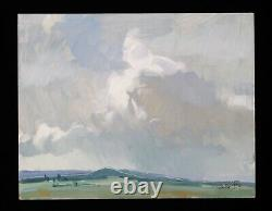 John Moyers Original Oil Painting Plein Air Sky Clouds High River Alta Canada