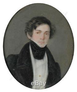 Joseph Weidner Portrait of a young Gentleman, high quality miniature! , 1820/30