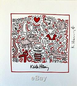Keith Haring Bee (Untitled). Signed, High Quality Color Lithograph