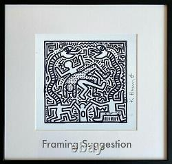 Keith Haring Malcolm McLaren. High Quality Lithograph