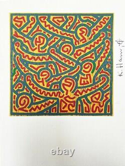 Keith Haring Untitled, 1989. High Quality Color Lithograph