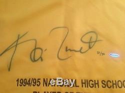 Kevin Garnett UDA Upper Deck Signed Autograph Farragut High School Jersey 21/34