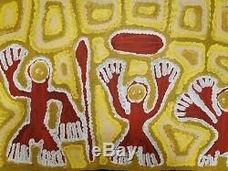 LINDA SYDDICK, Highly Collectable Aboriginal Art, 90 x 45cm. Kargarooman