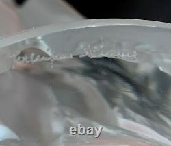 Large Lalique Glass Bachantes Vase with Nudes 9 1/2 High, 8.25 Diameter