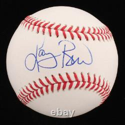 Larry Bird Signed OML Baseball with High Quality Display Case & Pin Larry Bird