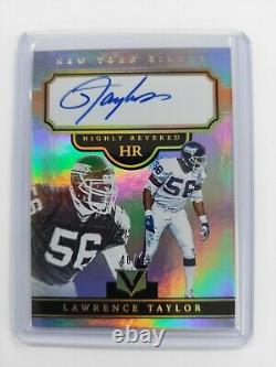 Lawrence Taylor 2017 Panini Vertex Highly Revered Auto /99