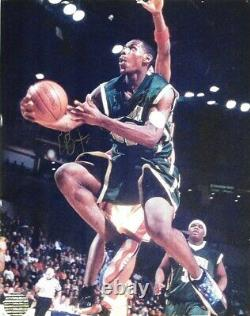 LeBRON JAMES hand signed autographed 8x10 from high school JSA COA Lakers Cavs
