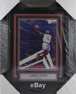 LeBron James Autographed Framed 8x10 Photo Signed In High School Beckett A02367