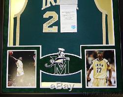 LeBron James Framed High School Jersey Signed UDA COA Upper Deck Cavaliers St