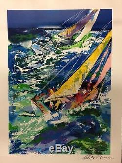 LeRoy Neiman HAND SIGNED Serigraph HIGH SEAS SAILING II silkscreen art RARE