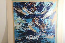 LeRoy Neiman HAND SIGNED Serigraph HIGH SEAS SAILING Serigraph art RARE