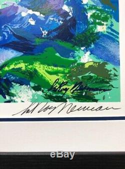 LeRoy Neiman High Seas Sailing Framed Hand Signed Serigraph Nautical Seascape
