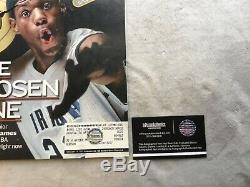 Lebron James Auto Signed (2002) Sports Illustrated High School Lakers (#235155)